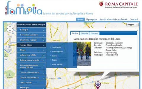 RomaFamiglia.rai.it – il portale di Roma Capitale realizzato attraverso il SIS Mediaera